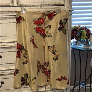 Lucky Brand Silk Butterfly skirt